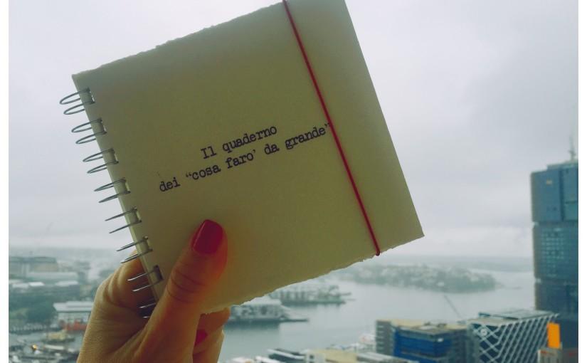 """Il quaderno dei """"cosa farò da grande"""""""